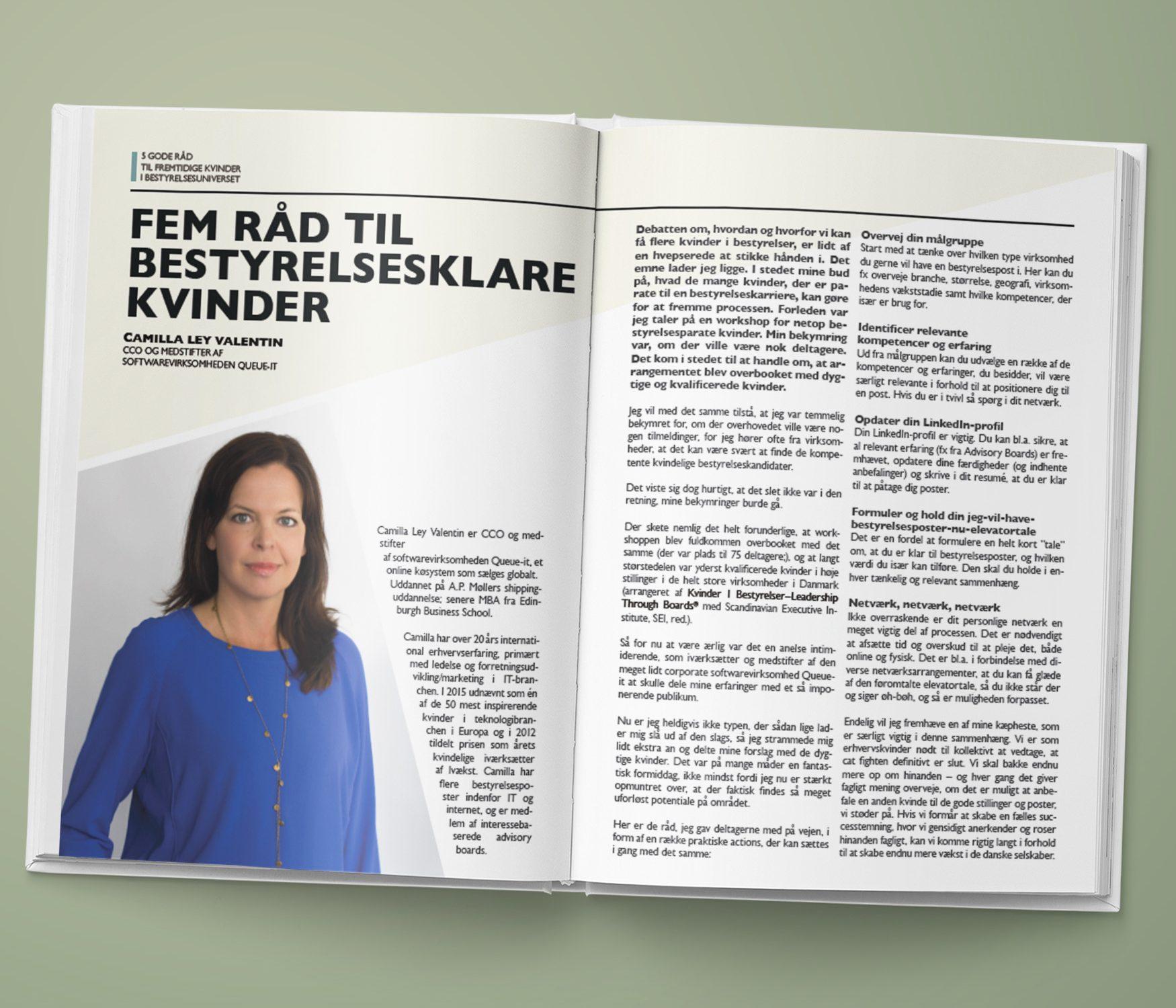 Ladies First| Camilla Ley Valentin, Helle Katholm Knudsen, Annette Otto, Hanne Jessen Krarup og Mie Krog - Fem råd til bestyrelsesklare kvinder